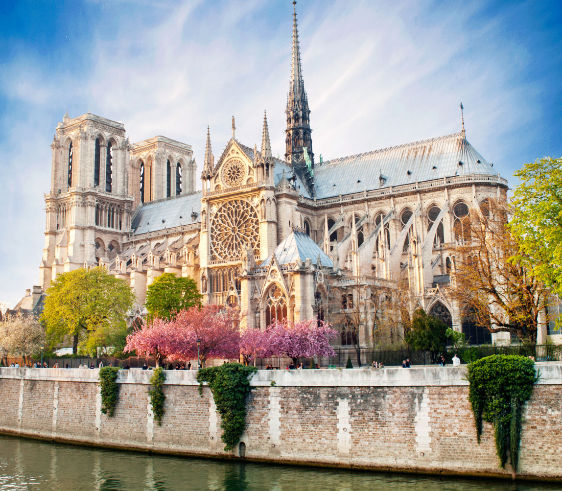 Detailled view of notre dame de Paris - France.
