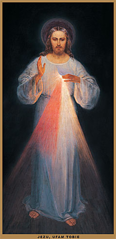 Образ, намальований у присутності св. сестри Фаустини (Євген Казиміровський, Вільно 1934 р.)