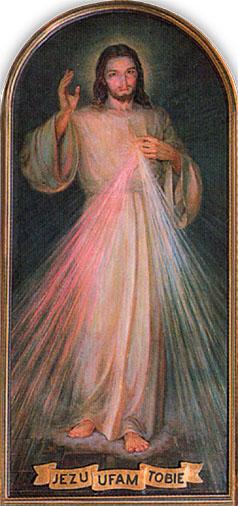 Образ, намальований після смерті св. сестри Фаустини (Адольф Хила, Краків 1944 р.)
