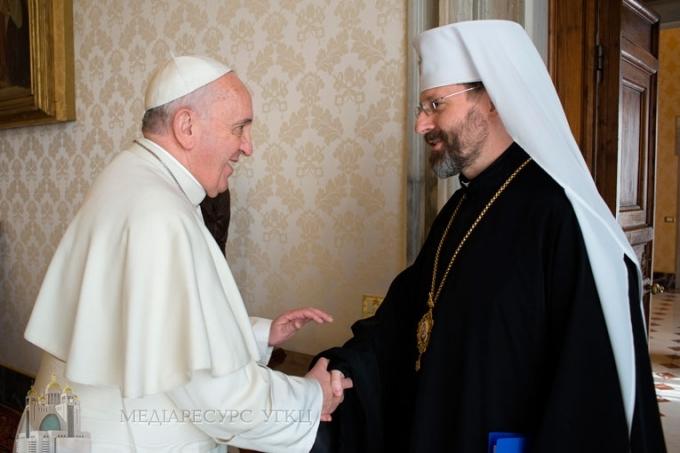 Блаженніший Святослав до Папи Франциска: «УКРАЇНА ЧЕКАЄ НА ВАС»